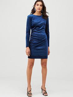 v-by-very-velvet-glitter-mini-dress-blue
