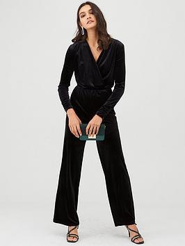 v-by-very-velvet-long-sleeve-wrap-jumpsuit-black