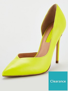 office-heighton-heeled-court-shoesnbsp--yellow