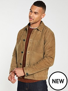 selected-homme-bas-suede-trucker-jacket-camel