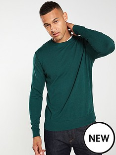 selected-homme-daniel-crew-neck-jumper-green