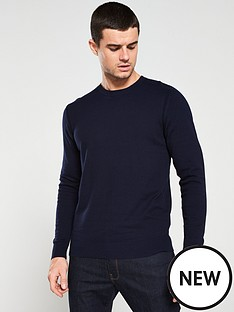 selected-homme-daniel-crew-neck-jumper-navy