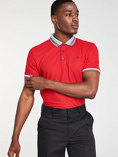 calvin-klein-golf-spark-polo-red