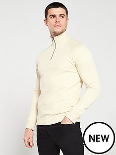 selected-homme-jake-high-neck-zip-sweater-cream