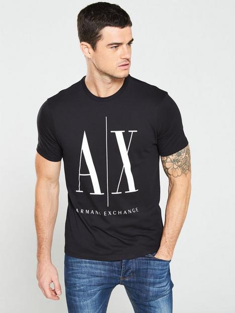 armani-exchange-ax-logo-print-t-shirt-black