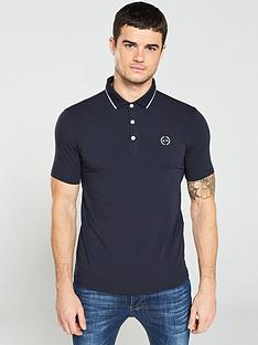 armani-exchange-jersey-tipped-polo-shirt-navy