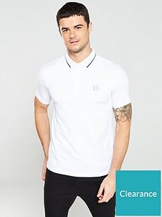 armani-exchange-jersey-tipped-polo-shirt-white