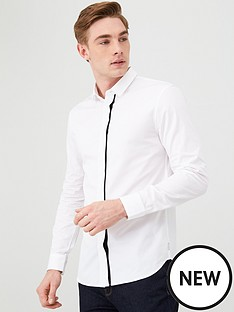 armani-exchange-striped-shirt-white