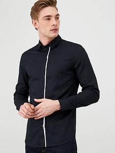 armani-exchange-tonal-striped-shirt-black