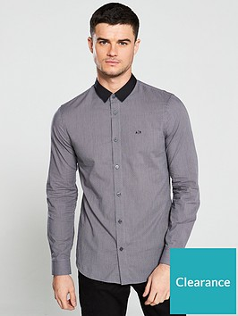 armani-exchange-contrast-collar-shirt-grey