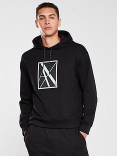 armani-exchange-reflective-logo-hoodie-black