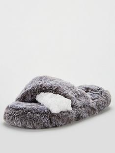 v-by-very-bella-cross-strap-slider-slippers-grey