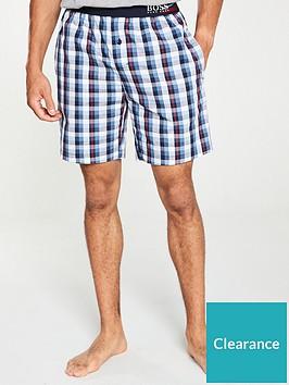 boss-bodywear-woven-checked-lounge-shorts-whitebluered