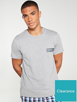 boss-bodywear-24-logo-t-shirt-grey