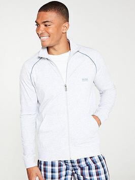 boss-bodywear-zipped-lightweight-lounge-top-grey-marl
