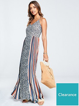 v-by-very-colourblock-pleat-and-animal-print-maxi-dress-print