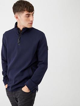 boss-zbond-half-zip-sweatshirt-navy