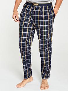 boss-bodywear-brushed-checked-pyjama-pants-navyyellow