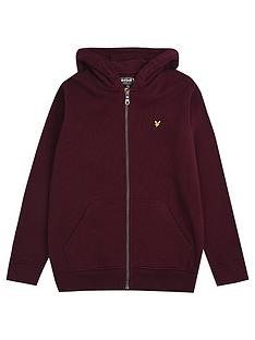 lyle-scott-boys-classic-zip-through-hoodie-wine
