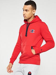 champion-c-logo-overhead-hoodie-red
