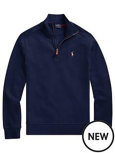 ralph-lauren-boys-half-zip-knitted-jumper-navy
