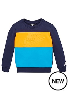 nike-sportswear-childrens-como-sheared-french-terry-crew-navy
