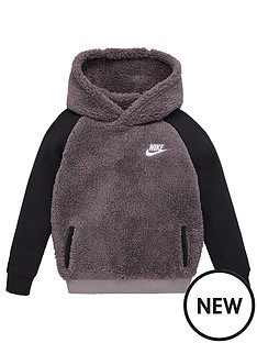 nike-sportswear-childrens-sherpanbsphoodie-grey