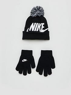 nike-childrens-swoosh-beanie-hat-and-glove-set-black