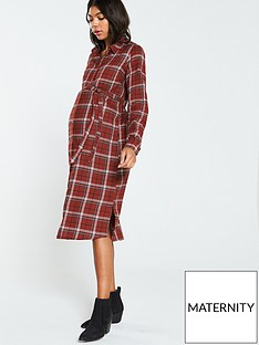 mama-licious-aviaja-lia-woven-shirt-dress-maroon