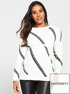 mama-licious-gaionbspmaternity-knitted-jumper-white