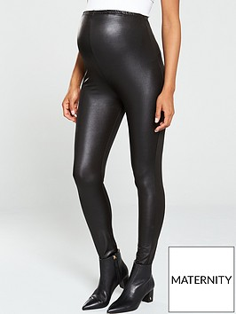 mama-licious-maternity-shiny-over-the-bump-leggings-black