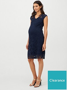 mama-licious-maternity-cap-sleeve-lace-jersey-dress-navy