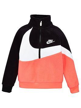 nike-childrens-fleece-sherpa-12-zip-jacket-pink