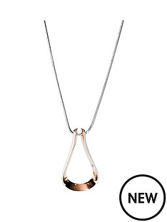 skagen-skagen-kariana-rose-gold-open-teardrop-pendant-ladies-necklace