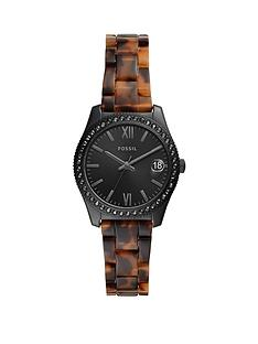 fossil-fossil-scarlette-black-32mm-dial-tortoise-shell-acetate-bracelet-ladies-watch