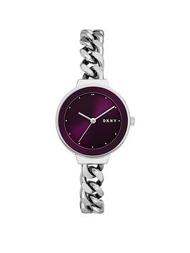 dkny-dkny-astoria-black-and-silver-detail-dial-stainless-steel-chain-link-bracelet-ladies-watch