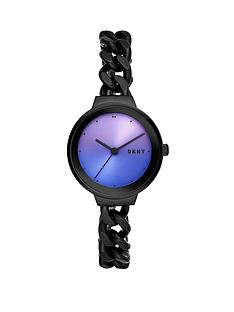 dkny-dkny-astoria-irridescent-sunray-and-black-detail-dial-black-ip-stainless-steel-chain-link-bracelet-ladies-watch