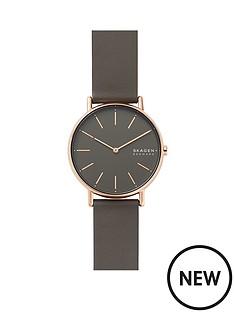 skagen-skagen-signatur-grey-and-rose-gold-detail-dial-grey-leather-strap-ladies-watch