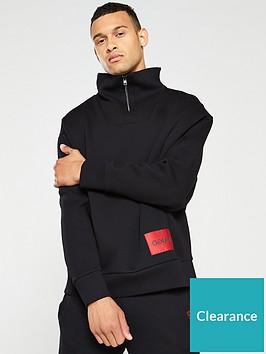 hugo-daipeh-zipped-turtleneck-sweatshirt-black