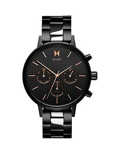 mvmt-mvmt-nova-black-and-rose-gold-detail-chronograph-dial-black-ip-stainless-steel-bracelet-ladies-watch