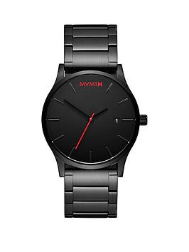 mvmt-classic-black-and-red-detail-date-dial-black-ip-stainless-steel-bracelet-mens-watch