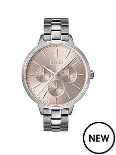 boss-boss-carnation-gold-sunray-dial-stainless-steel-bracelet-ladies-watch