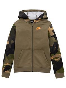 nike-sportswear-club-full-zip-camo-sleeve-hoodie-khaki