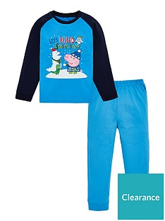peppa-pig-toddler-boys-george-pig-christmas-snowdino-pyjamas-blue