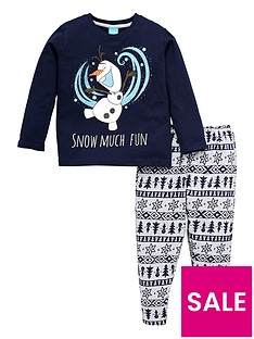 disney-frozen-kids-unisex-olaf-family-christmas-pyjamas-navy