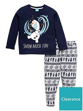 disney-frozen-kids-unisex-olaf-family-christmas-pyjamas-navy