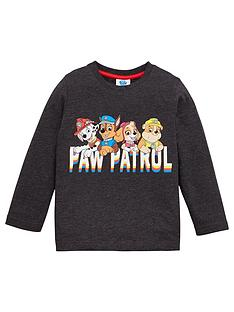 paw-patrol-boys-team-pup-long-sleeve-t-shirt-grey-marl