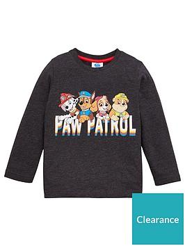 paw-patrol-boys-team-pup-long-sleeve-t-shirt-grey-marl