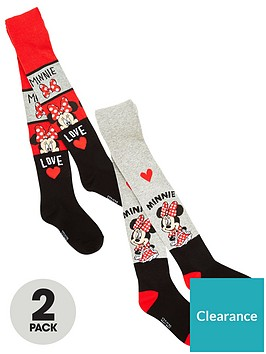 minnie-mouse-girls-2-pack-tights-multi