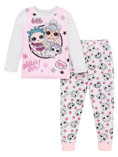 lol-surprise-toddler-girls-glitter-pyjamas-pinkgrey